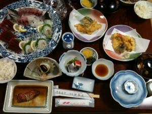伊鈴荘の夕食、2011/7/16