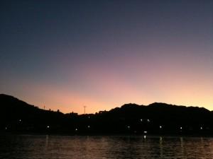 夕方西空(水星見えず)、外浦の堤防から、2011/7/17