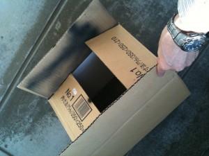 ピンホール投影のためのダンボール箱