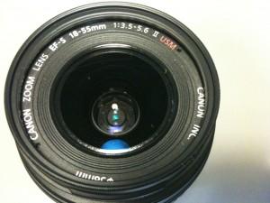 レンズ前面 EF-S18-55mm F3.5-5.6 II USM