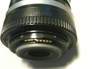 接点のネジ2つ。EF-S18-55mm F3.5-5.6 II USM