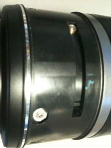 側面ネジ (4)、無表示部。EF-S18-55mm F3.5-5.6 II USM