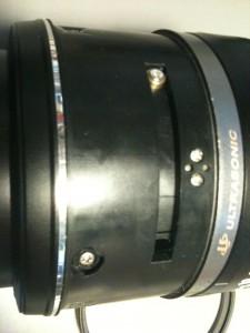 側面ネジ (5) Ultrasonic表示・2連ネジ部。EF-S18-55mm F3.5-5.6 II USM