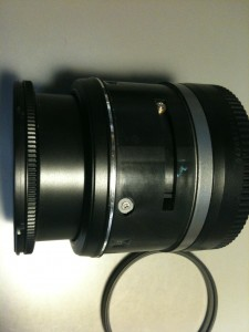 側面ネジ (6)、無表示部。EF-S18-55mm F3.5-5.6 II USM
