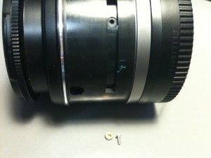 無表示部の白カラーを外した。EF-S18-55mm F3.5-5.6 II USM