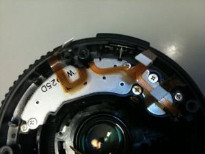 AFの超音波モータ。EF-S18-55mm F3.5-5.6 II USM