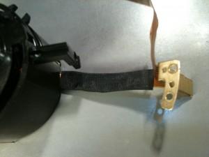 フレキにバイパスのワイヤーハンダ付け、アセテート粘着テープを巻く。EF-S 18-55mm II USM