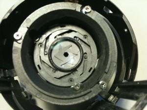 絞りが最小。EF-S18-55mm F3.5-5.6 II USM