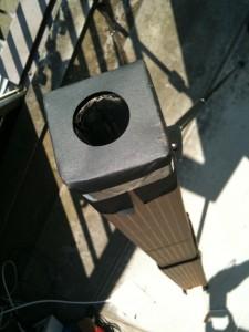老眼鏡D+1.0投影機の開口部