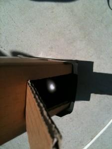 老眼鏡D+1.0による日蝕像