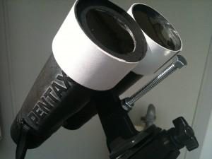 双眼鏡の太陽ファインダー(ボルト)