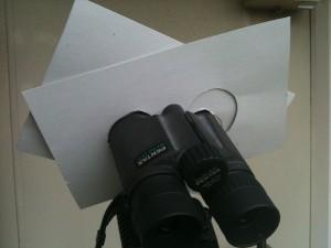 双眼鏡の遮光板