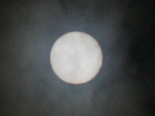 金星の日面経過(太陽の右下の縁) 2012/6/6 13:35 (JST)