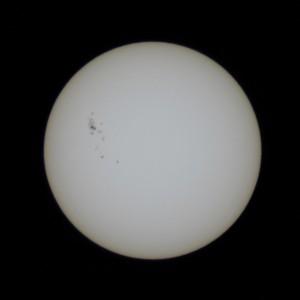 太陽。2012/7/10 15:53 JST