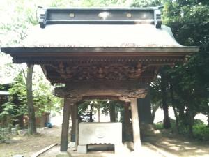 神明神社(久喜市菖蒲町上栢間) 手水舎