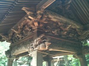 神明神社 手水舎の枡組