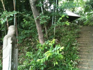天王山塚の薬師堂・階段