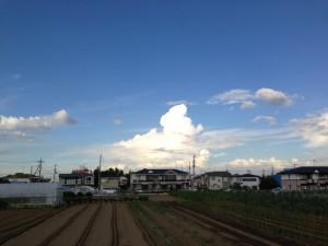 2013/9/3 16:22 栃木・茨城の方向の積乱雲