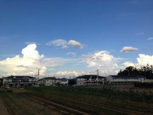 2013/9/3 16:22 茨城の方向の雲