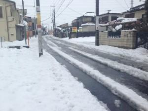 雪が積もった道