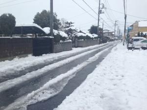 雪の積もった道