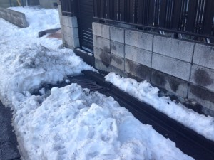 排水溝(雪かき)