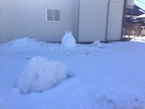 雪の王蟲とトトロ