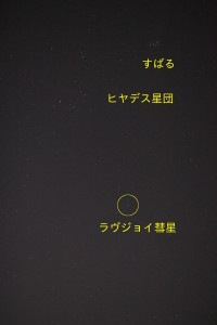 ラヴジョイ彗星(位置)